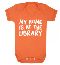 My home is at the library Baby Vest orange 18-24 months