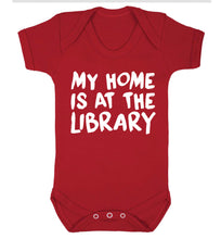 My home is at the library Baby Vest red 18-24 months