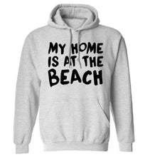 My home is at the beach adults unisex grey hoodie 2XL