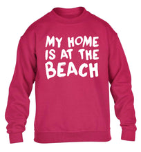 My home is at the beach children's pink sweater 12-14 Years