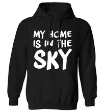 My home is in the sky adults unisex black hoodie 2XL