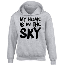 My home is in the sky children's grey hoodie 12-14 Years