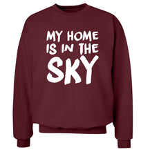 My home is in the sky Adult's unisex maroon Sweater 2XL