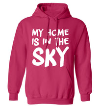 My home is in the sky adults unisex pink hoodie 2XL
