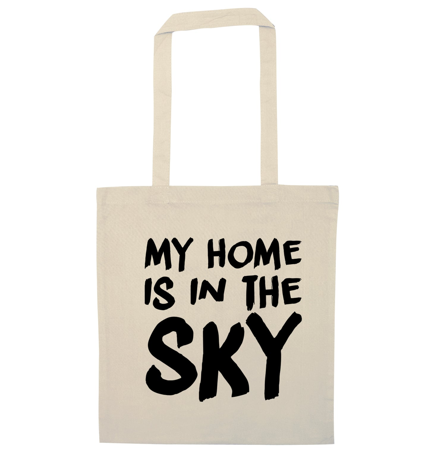 My home is in the sky natural tote bag