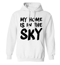 My home is in the sky adults unisex white hoodie 2XL