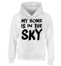 My home is in the sky children's white hoodie 12-14 Years