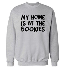 My home is at the bookies Adult's unisex grey Sweater 2XL