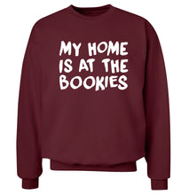 My home is at the bookies Adult's unisex maroon Sweater 2XL