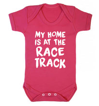 My home is at the race track Baby Vest dark pink 18-24 months