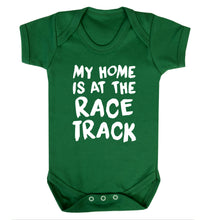 My home is at the race track Baby Vest green 18-24 months