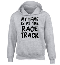 My home is at the race track children's grey hoodie 12-14 Years