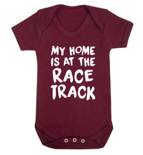 My home is at the race track Baby Vest maroon 18-24 months