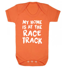 My home is at the race track Baby Vest orange 18-24 months