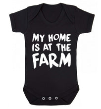 My home is at the farm Baby Vest black 18-24 months