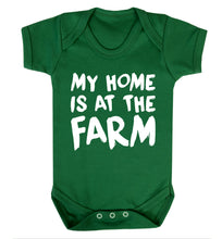 My home is at the farm Baby Vest green 18-24 months
