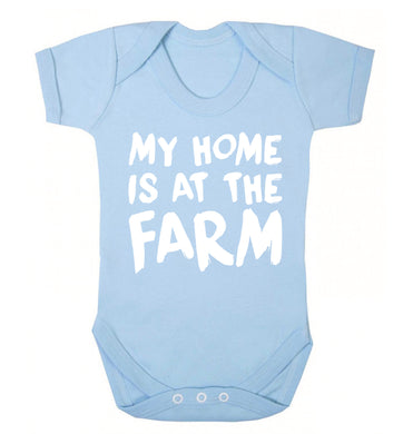 My home is at the farm Baby Vest pale blue 18-24 months