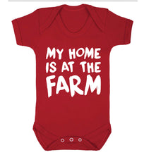 My home is at the farm Baby Vest red 18-24 months