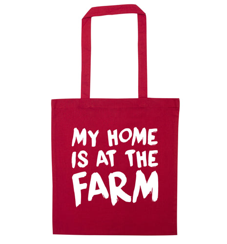 My home is at the farm red tote bag
