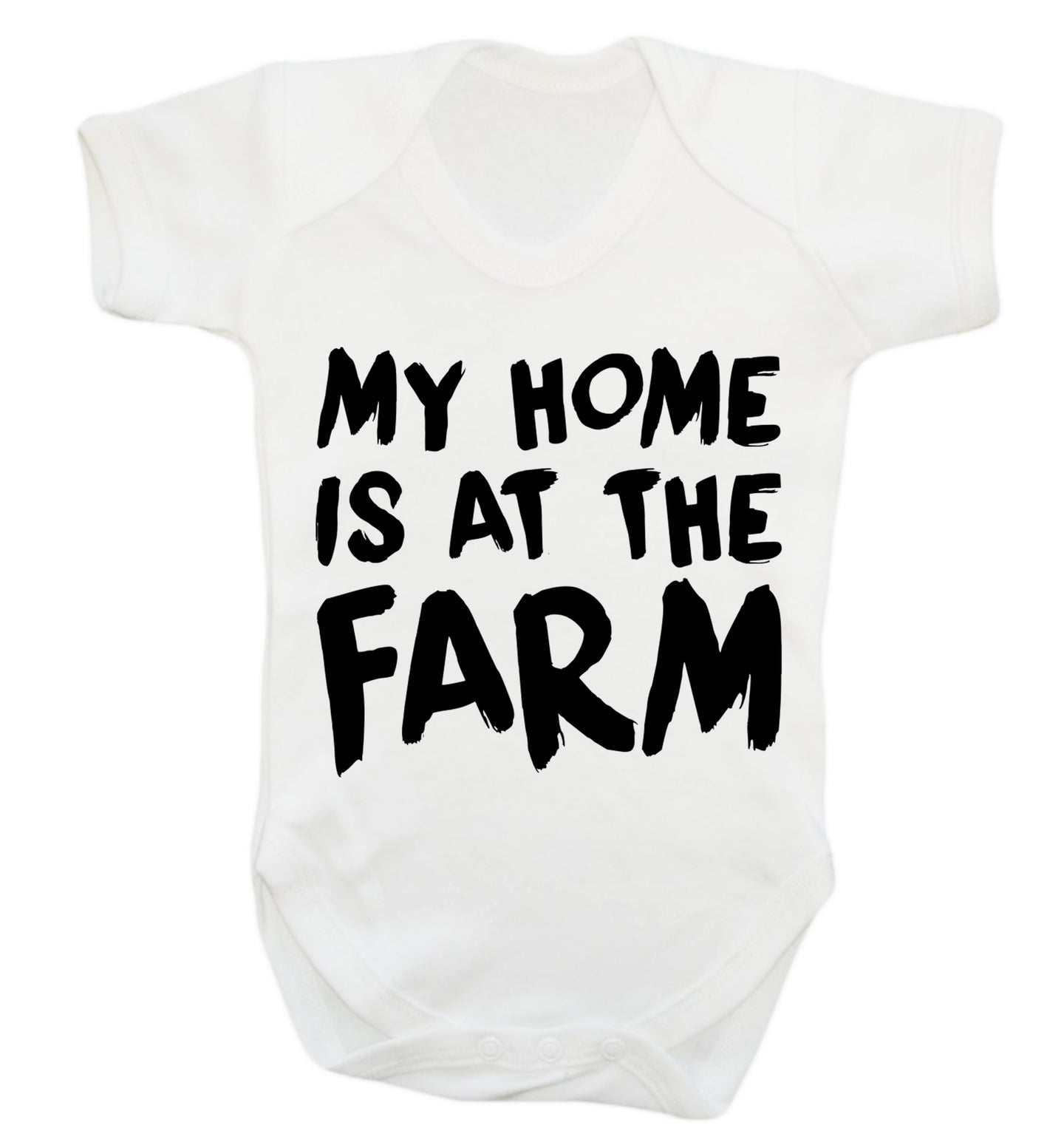 My home is at the farm Baby Vest white 18-24 months