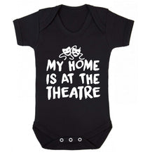 My home is at the theatre Baby Vest black 18-24 months