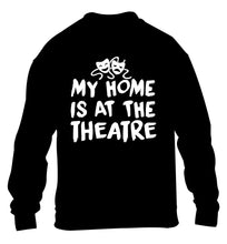 My home is at the theatre children's black sweater 12-14 Years