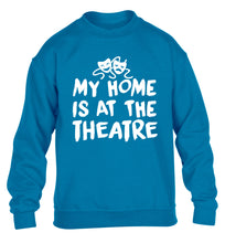My home is at the theatre children's blue sweater 12-14 Years