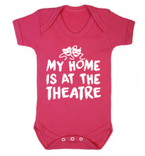 My home is at the theatre Baby Vest dark pink 18-24 months