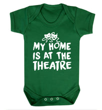 My home is at the theatre Baby Vest green 18-24 months