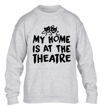 My home is at the theatre children's grey sweater 12-14 Years