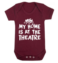My home is at the theatre Baby Vest maroon 18-24 months