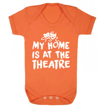 My home is at the theatre Baby Vest orange 18-24 months