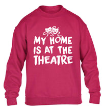 My home is at the theatre children's pink sweater 12-14 Years