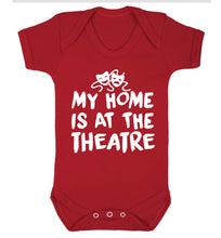 My home is at the theatre Baby Vest red 18-24 months