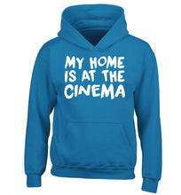 My home is at the cinema children's blue hoodie 12-14 Years