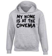 My home is at the cinema children's grey hoodie 12-14 Years
