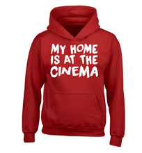 My home is at the cinema children's red hoodie 12-14 Years