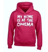 My home is at the cinema children's pink hoodie 12-14 Years