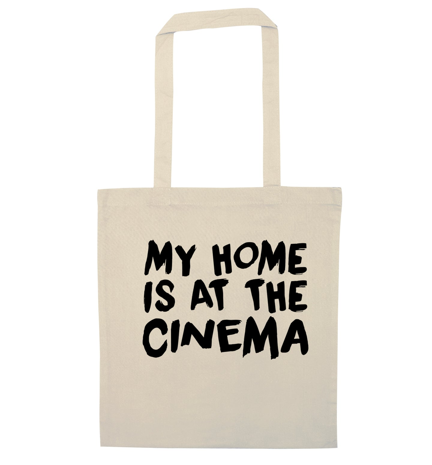 My home is at the cinema natural tote bag