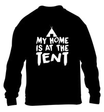 My home is at the tent children's black sweater 12-14 Years