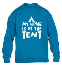 My home is at the tent children's blue sweater 12-14 Years