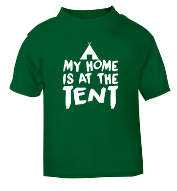 My home is at the tent green Baby Toddler Tshirt 2 Years