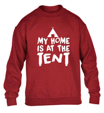 My home is at the tent children's grey sweater 12-14 Years