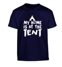 My home is at the tent Children's navy Tshirt 12-14 Years