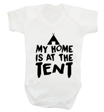 My home is at the tent Baby Vest white 18-24 months