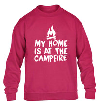 My home is at the campfire children's pink sweater 12-14 Years