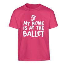 My home is at the dance studio Children's pink Tshirt 12-14 Years