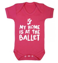 My home is at the dance studio Baby Vest dark pink 18-24 months