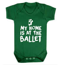 My home is at the dance studio Baby Vest green 18-24 months