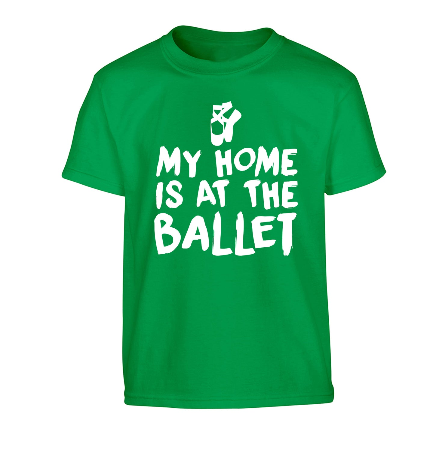 My home is at the dance studio Children's green Tshirt 12-14 Years